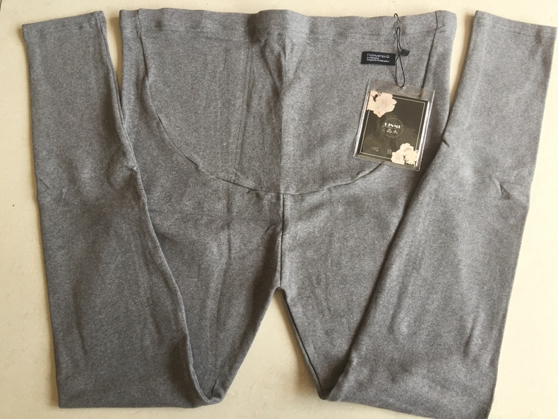 Wooden cashmere cotton basic bottoming pants for pregnant women