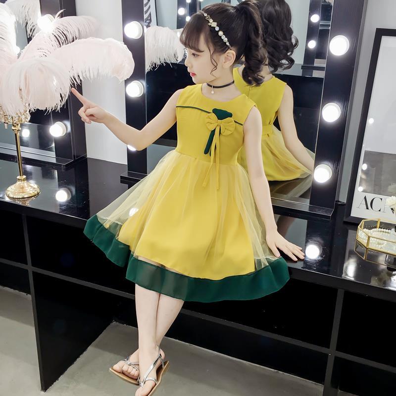 女童雪纺夏装5洋气6 7 8公主裙子有赠品