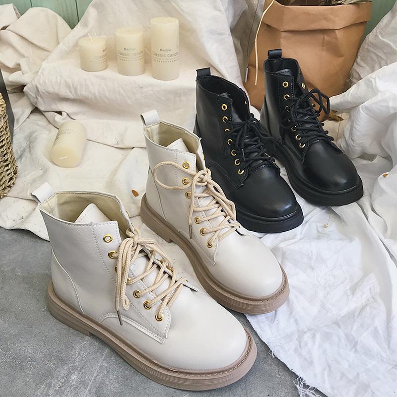 马丁靴女2019年新款秋冬ins潮鞋网红瘦瘦靴子加绒百搭英伦风短靴