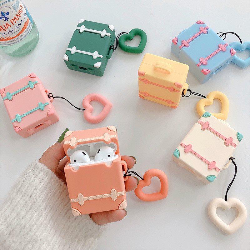 糖果色行李箱AirPods耳机套防摔硅胶保护套日韩国女个性创意ins风