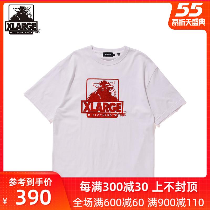 XLARGE X D*Face聯名款 2020年春季新品 寬松大猩猩logo短袖T恤潮