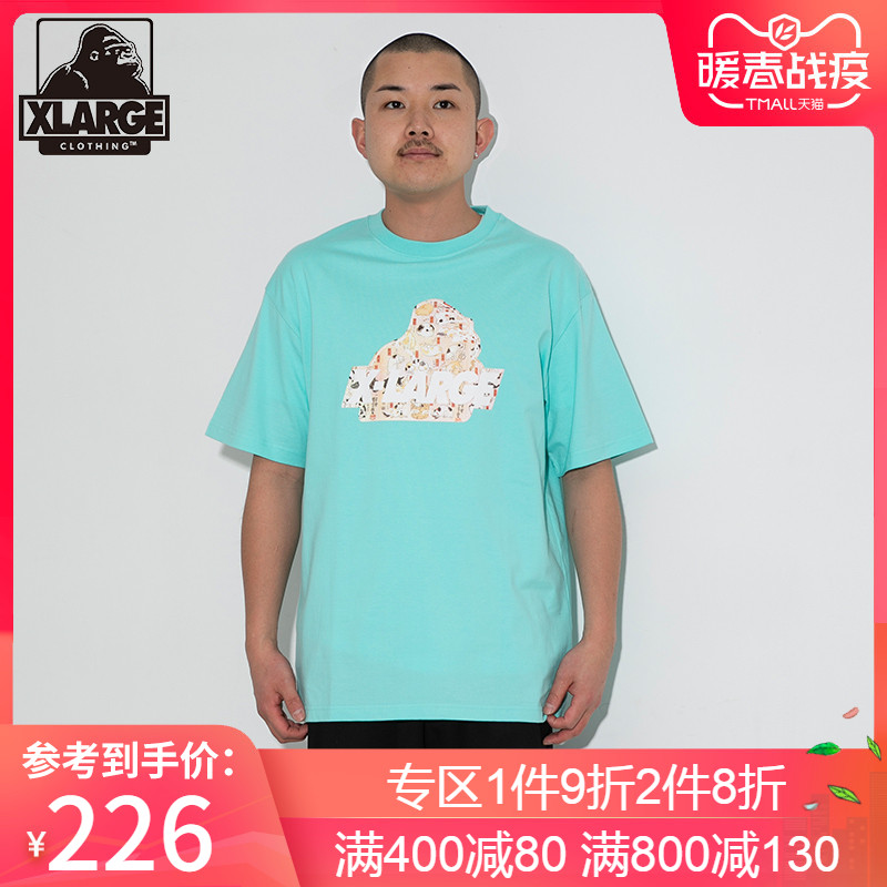 XLARGE 潮流男装 19年春季新品个性图案短袖针织T恤衫
