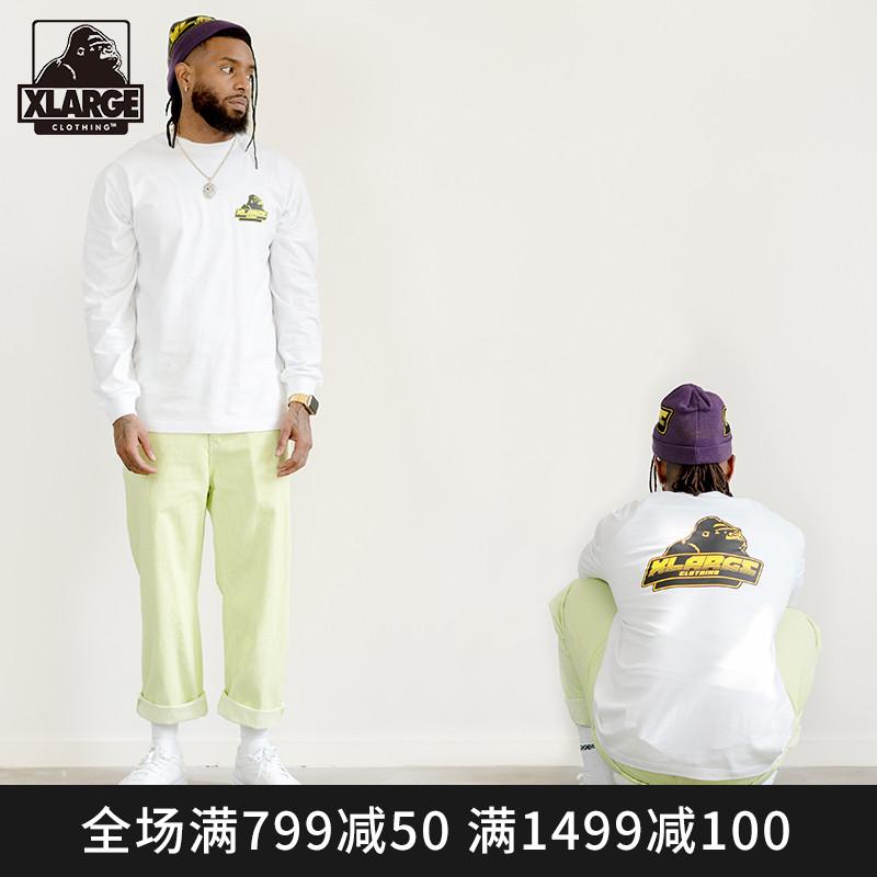 XLARGE 潮流男装  潮流时尚印花圆领长袖T恤