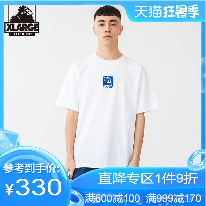 XLARGE潮流男装 20夏季新品 猩猩logo刺绣夏日清爽圆领短袖T恤男