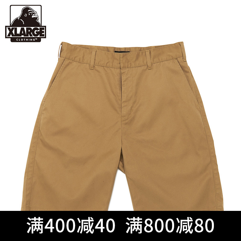 XLARGE夏季薄款男士休闲裤子运动短裤 百搭工装直筒短裤男宽松潮