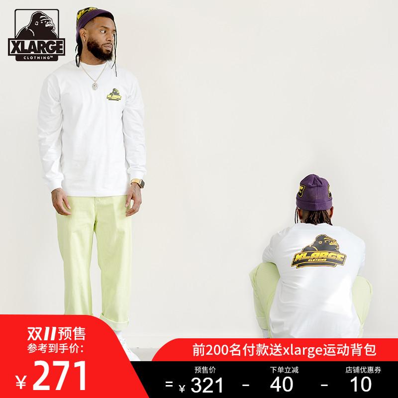 【双11预售】XLARGE 潮流男装  潮流时尚印花圆领长袖T恤