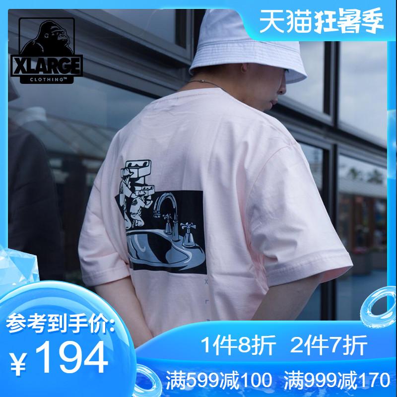 XLARGE时尚趣味图案印花夏季半袖T恤男 潮牌个性时尚短袖T恤男潮