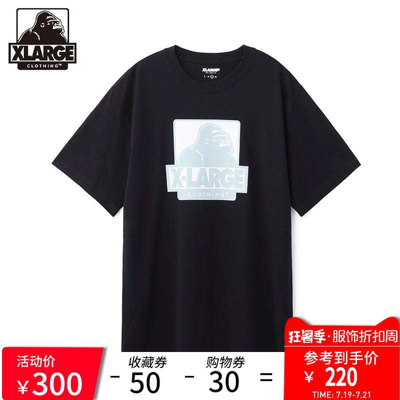 XLARGE 潮流男装 时尚宽松休闲印花短袖T恤