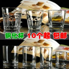 特价钢化玻璃透明茶杯子水杯啤酒威士忌杯酒吧KTV家用耐热杯包邮图片
