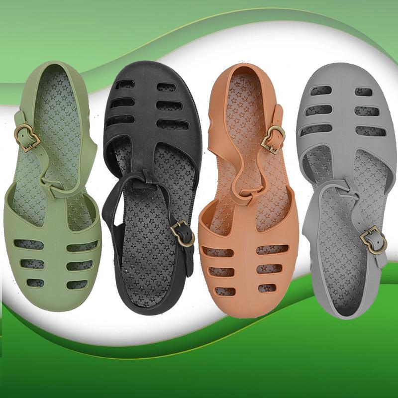 Vietnam imported rubber sandals retro nostalgic trend mens casual Baotou anti slip wear resistant military old sandals