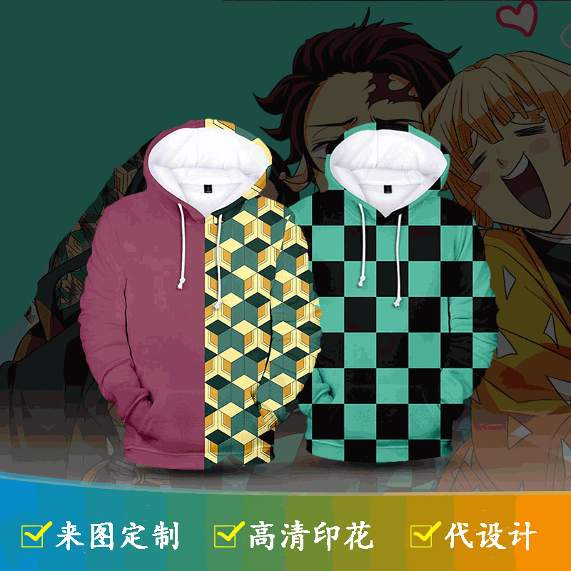 Ghost blade series the same 3D sweater Cosplay digital printing animation game day Hoodie Top