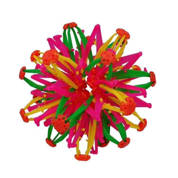 新款变形伸缩五彩球儿童玩具魔术球创意球塑料球百变小球彩色花球