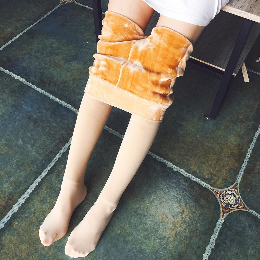 秋冬加绒加厚大码黑色打底裤子女外穿光腿保暖裤连裤袜打底袜棉裤