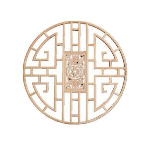 八角花格窗户東陽木雕仿古實木掛件中式裝修燈罩吊頂圓形花窗鏤空