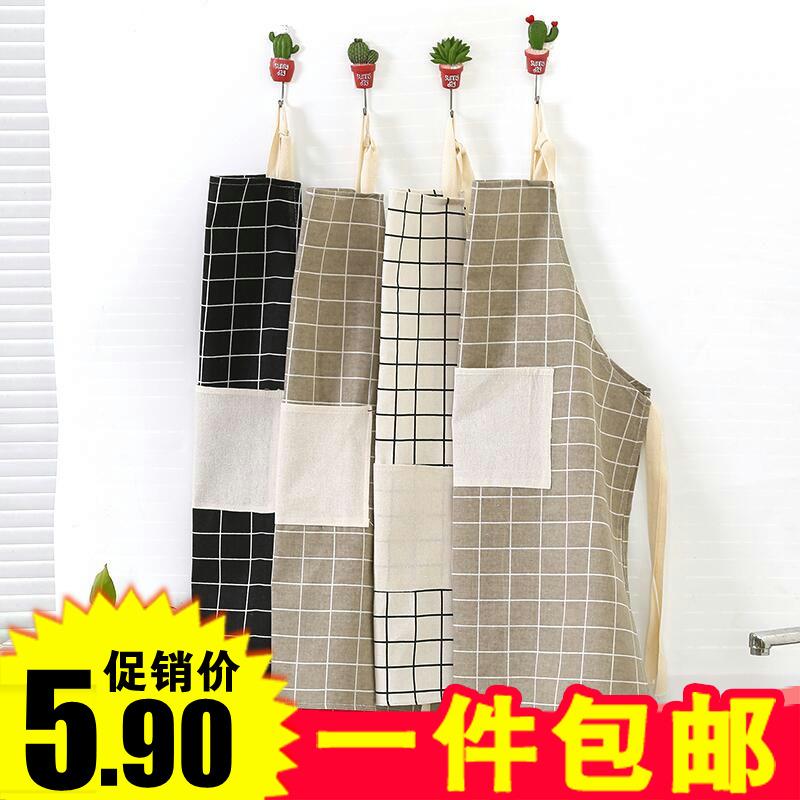 Кухня водонепроницаемый фартук масло сгущаться окружать талия сделать рис защищать одежда корейский моды простой для взрослых комбинезон женщина
