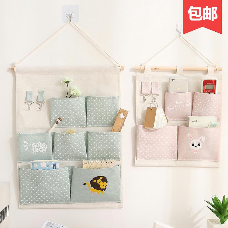 布艺收纳挂袋墙挂式多层挂兜 门后悬挂式杂物储物袋收纳袋