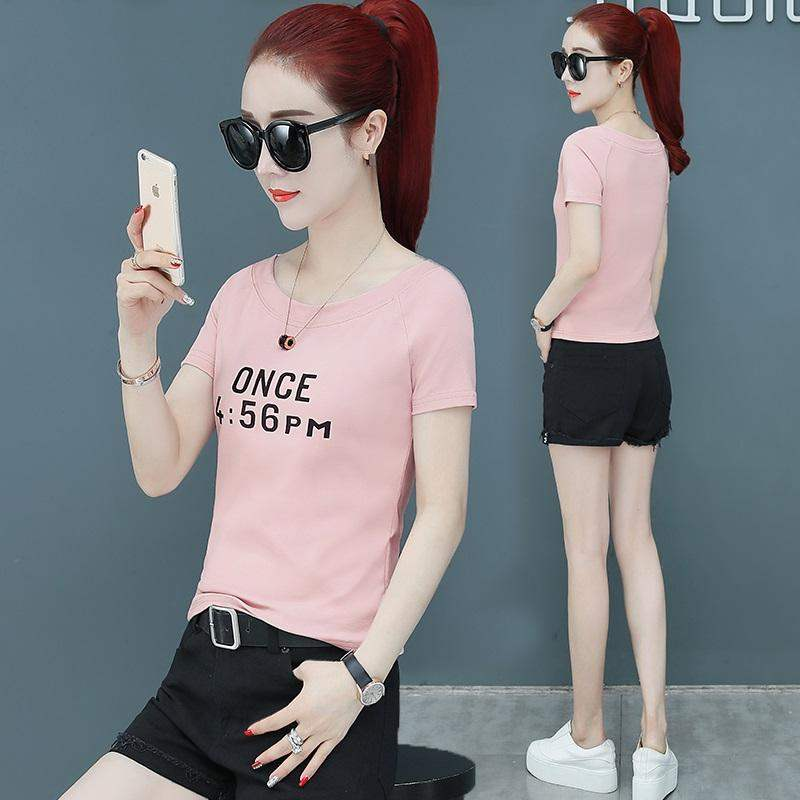 Extreme Vance short style with skirt top Korean version is thin and versatile short sleeve womens 2020 summer T-shirt ins super