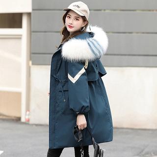 派克羽绒棉服2019年冬季新款女装韩版宽松棉袄外套中长款百搭棉衣