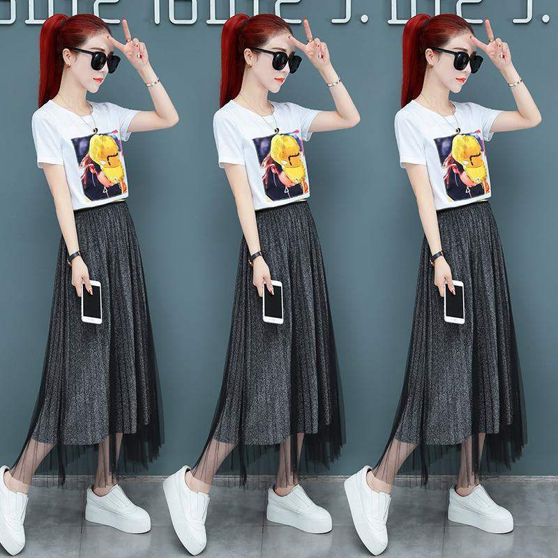 Extreme Vance denim dress fashion in 2020 new early spring very fairy suit long skirt shows two thin