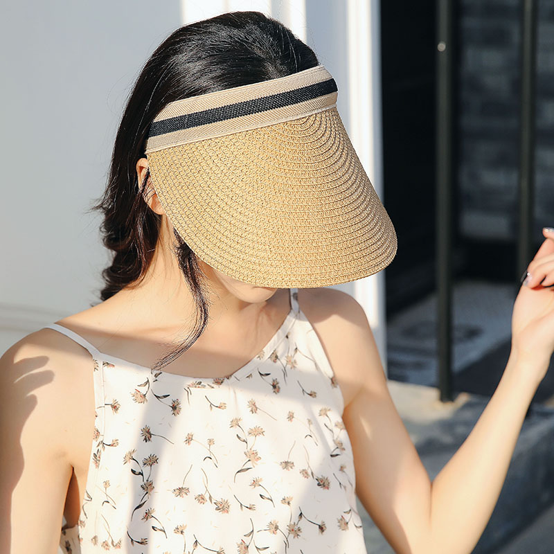 棒球帽英伦马术帽骑士帽遮阳草帽鸭舌帽空顶帽休闲防晒沙滩太阳帽