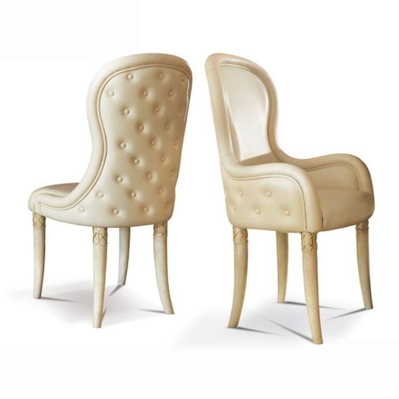 Light luxury, post modern Italian single leather sofa chair, cowhide fashion new dining chair Designer
