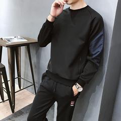 2019拼色卫衣套装两件套休闲运动服韩版潮青少年A050/8993/P75