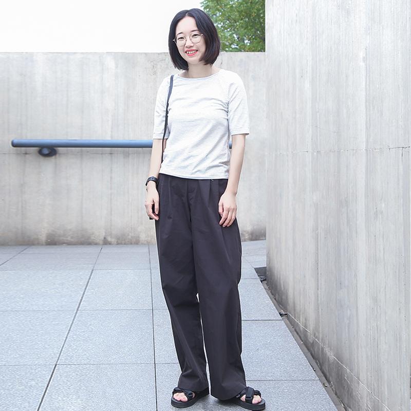 10月18日最新优惠直筒裤禾陶成衣锦棉面料黑色工装裤