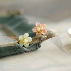 小花簪u钗汉服发簪女 盘发 百搭唯美琉璃花朵日常配饰花钿diy发饰
