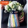 花瓶摆件创意客厅装饰干花花瓶家用欧式手绘插花罐子水培陶瓷花瓶