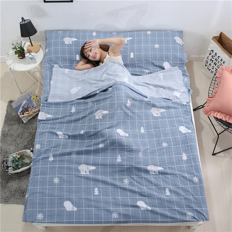 Путешествие отели гость дом модель грязный спальный мешок мойка одеяло наборы для взрослых двойной портативный путешествие из разница на открытом воздухе лист
