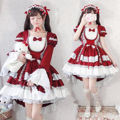 花嫁lolita裙子正版蘿莉塔公主lo裙娘學生洛麗塔全套裝兒童女童夏