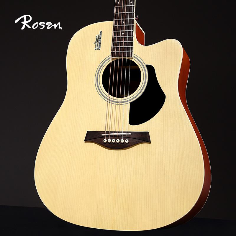Rosen卢森G11单板吉他民谣吉他40寸41寸木吉他初学者入门学生吉它