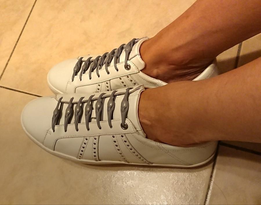 黑色鞋带扣男 一脚蹬免绑免系圆形创意商务鞋带 弹性懒人运动鞋带,可领取3元天猫优惠券