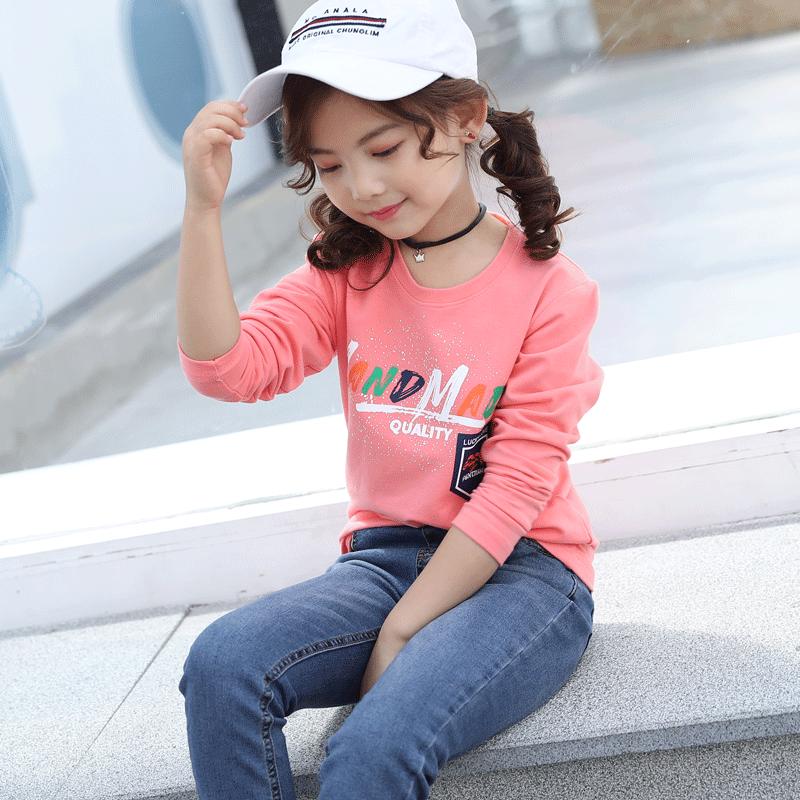 【第二件9.9元】女童长袖T恤纯棉T恤