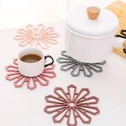 创意花朵镂空杯垫 家用碗碟子隔热垫咖啡垫 加厚硅胶防滑耐热锅垫