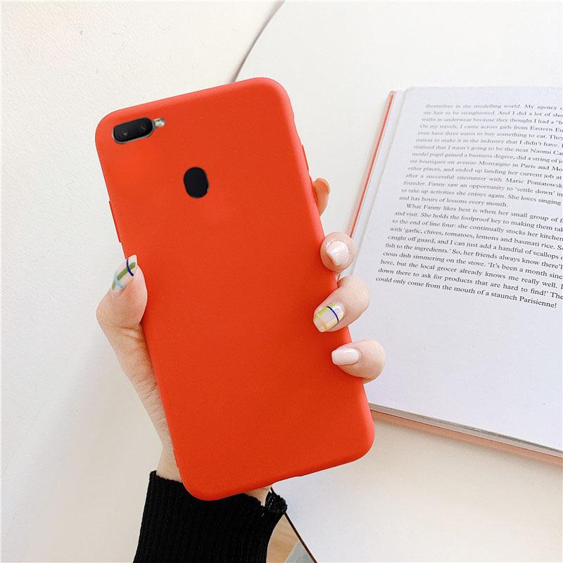 亮橙黄色OPPOA7X手机壳女OPPOF9灰蓝黑软套OPPOA7X男F9粉红绿白热销0件需要用券