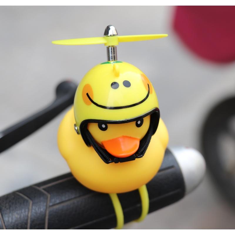 可爱卡通娃娃创意夜光黄鸭用品玩偶挂件个性电动摩托车装饰公仔小