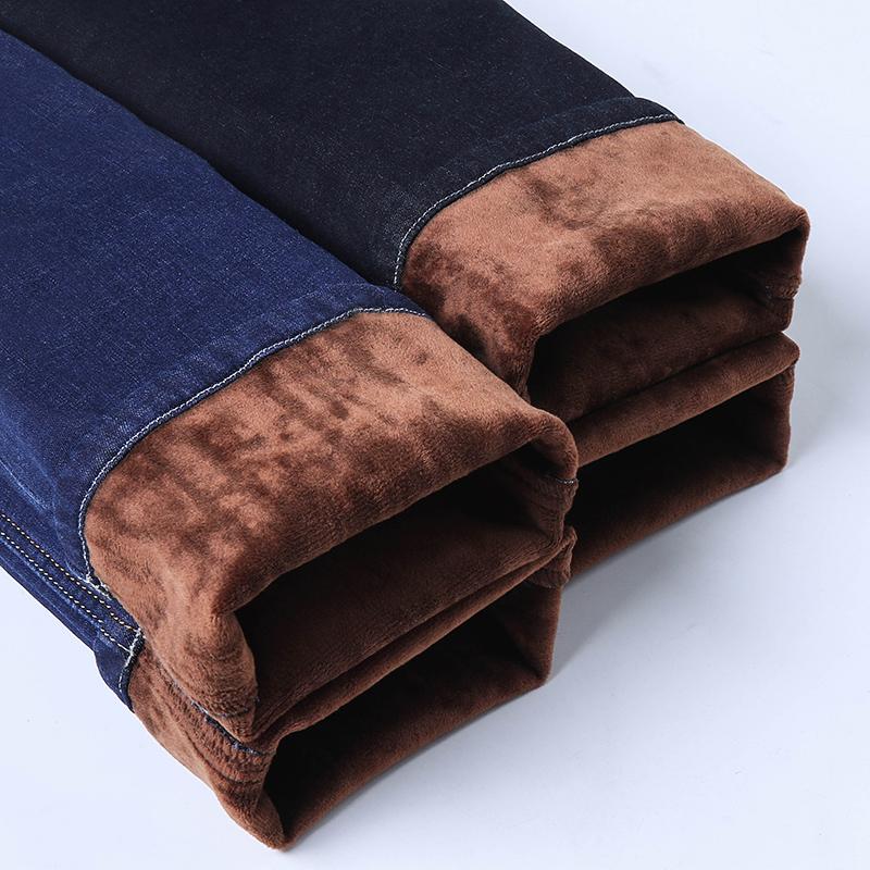 加绒加厚牛仔裤男士冬季天休闲直筒宽松秋冬款外穿保暖长裤子男裤