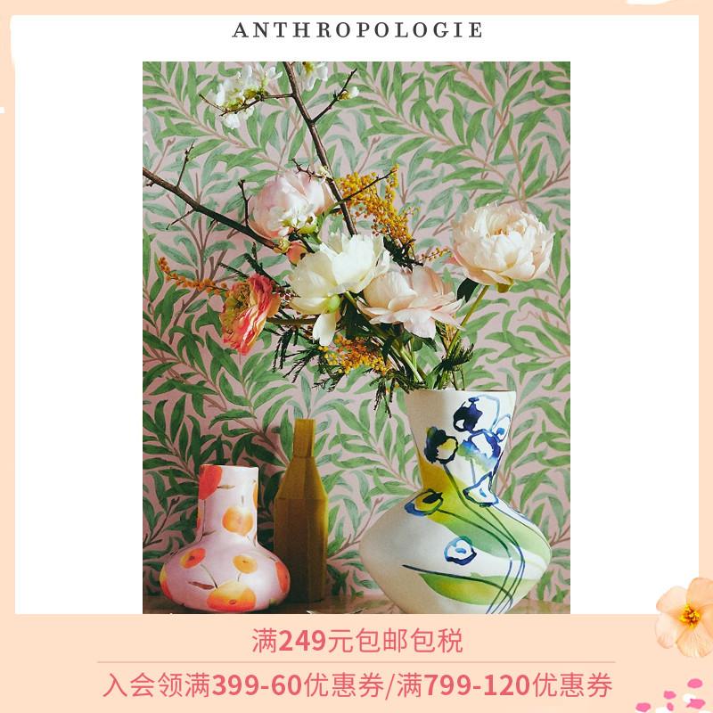 Anthropologie花瓶家居摆件干花插花瓶花盆创意客厅美式艺术卧室