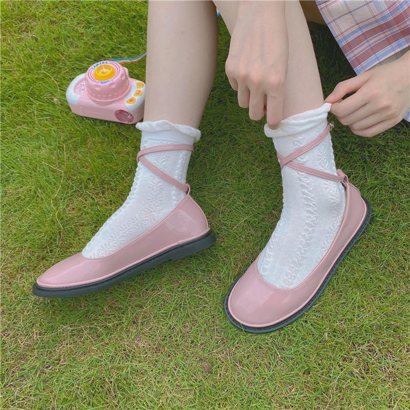 【兔缝缝】可爱少女jk制服鞋女夏季日系漆皮小皮鞋洛丽塔鞋lolita