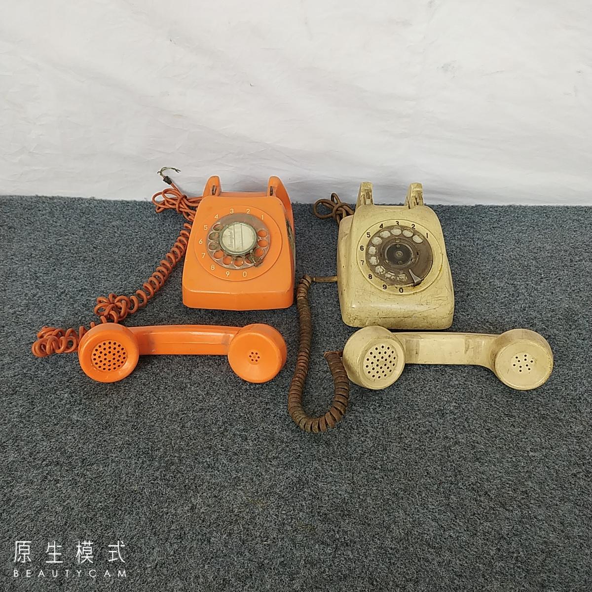 民俗老物件老式手摇电话旧电话机二手通讯设备复古怀旧装饰摆件