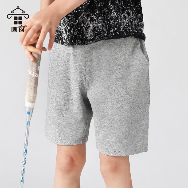 10-15新券夏季男童黑色短裤中大童新宽松裤子
