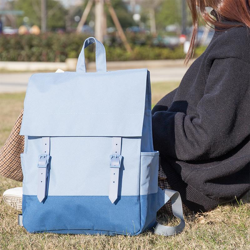 Компетентный 69450 рюкзак женщина рюкзак корейский моды волна простой свежий улица бить портфель мужской и женщины кампус рюкзак
