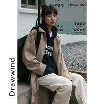 秋新款韩版时尚气质衣女中长款小个子风衣2019港风外套女韩版宽松