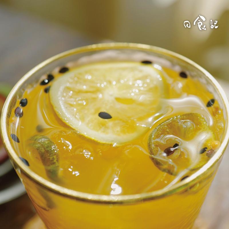 日食记百香果蜂蜜柠檬冻干茶水果茶青金桔水果茶可冷泡花果茶105g