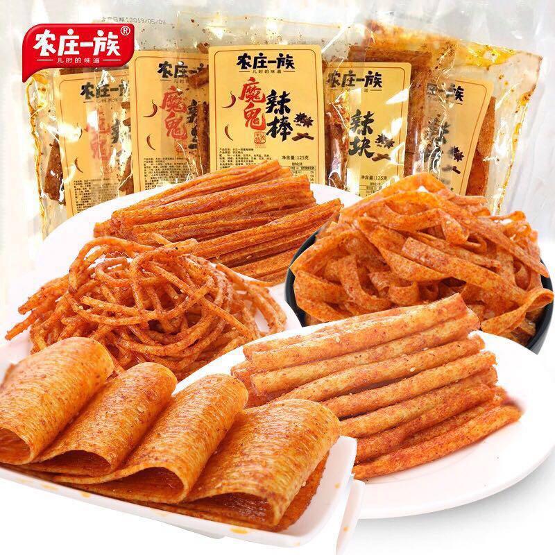 农庄一族网红辣条湖南特产麻辣辣片