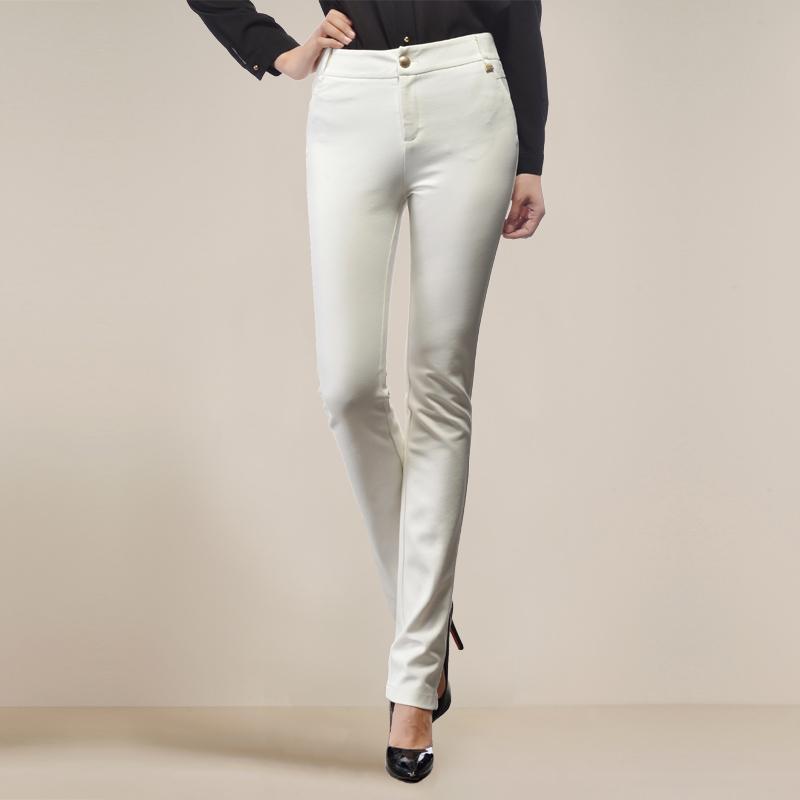 休闲女裤长裤裤大码显瘦筒裤通勤OL西裤1折包