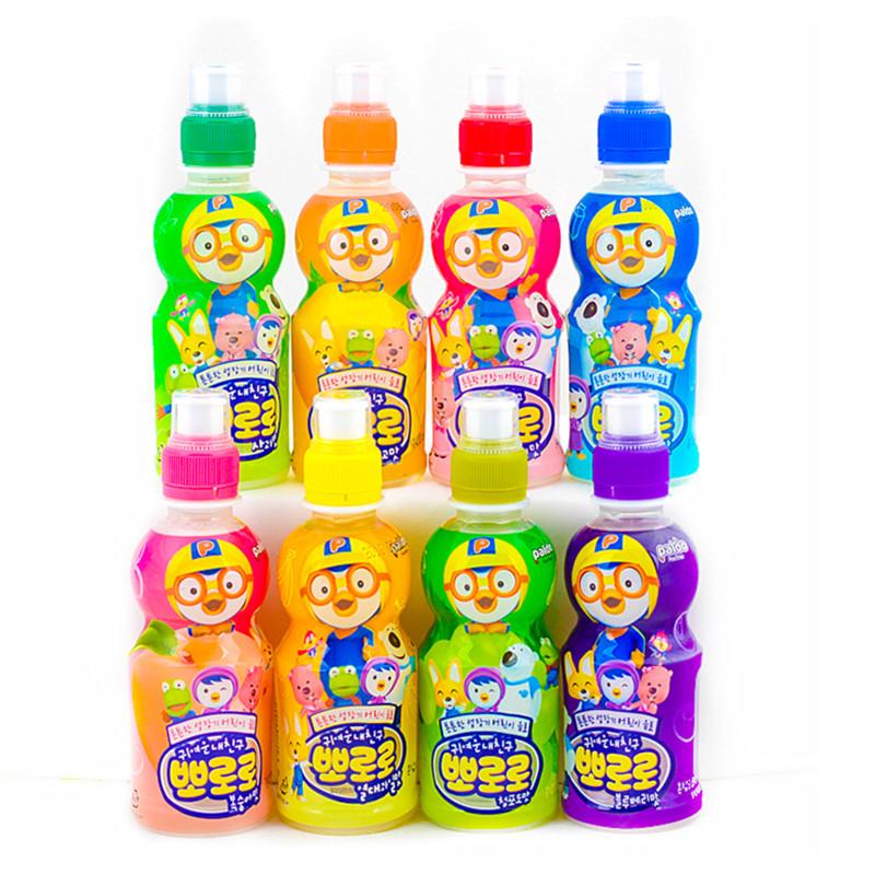 韩国进口小企鹅宝露露啵乐乐儿童乳酸菌饮料235ml24瓶8种整箱包邮