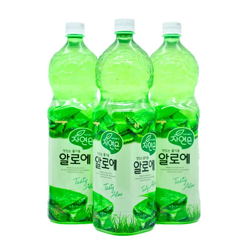 韩国芦荟饮料原装进口500ml熊津果肉果汁饮品办公室冷藏聚会 包邮