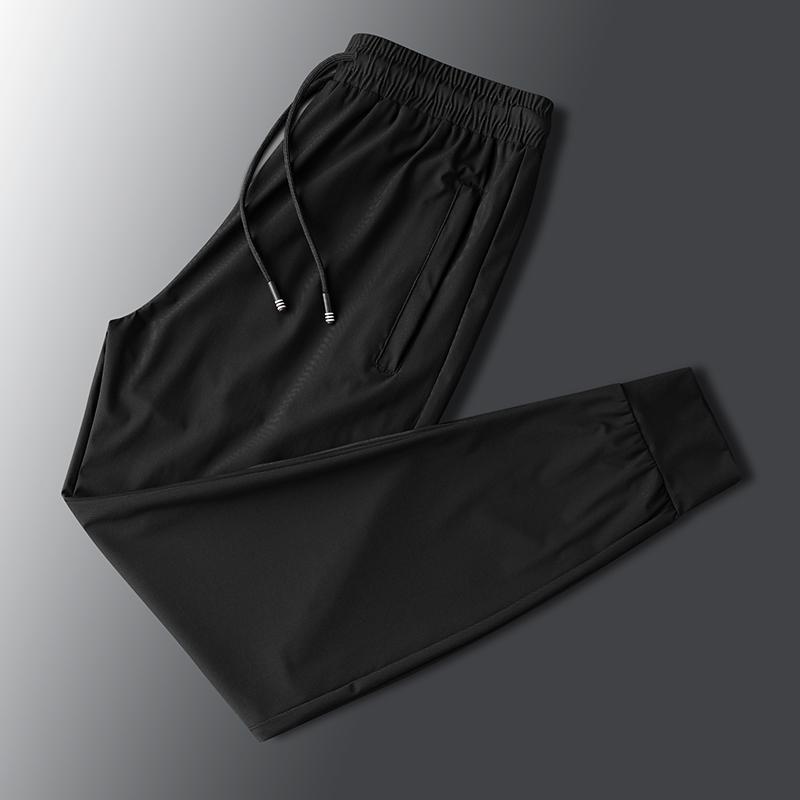 冰丝裤子男夏季薄款休闲裤九分潮男士运动束口空调速干裤宽松长裤